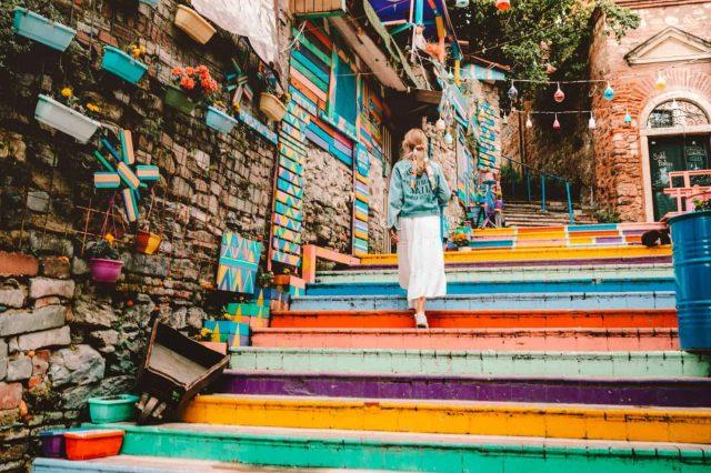 Sarene stepenice u Istanbulu Disko Drugar