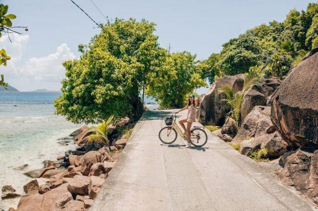 Sejšeli voznja biciklom Disko Drugar